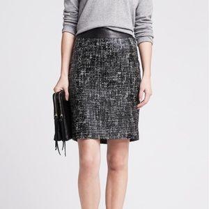Banana Republic Coated Tweed Skirt